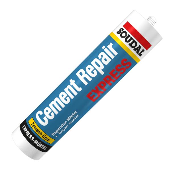 Soudal Cement Repair Express-Mörtel Fugenmörtel Reparatur zement-grau 300ml Kartusche
