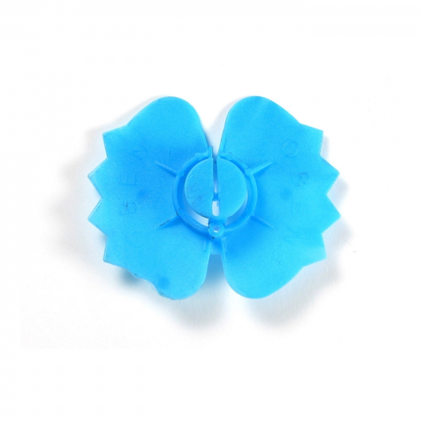 EURO-Clip Klemmplatte Klemmscheibe blau für Luftschichtanker 3 - 6 mm 250 Stück