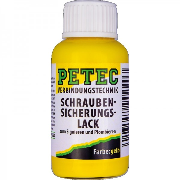 Petec Schraubensicherungslack 20 ml gelb