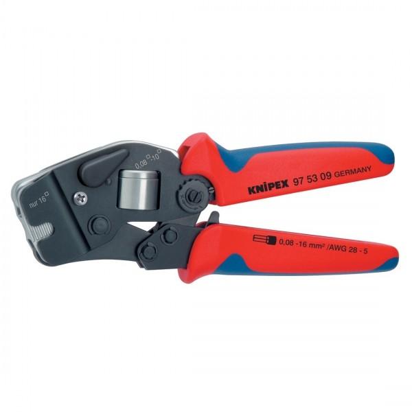 Knipex Crimpzange für Aderendhülsen selbsteinstellend 190mm Zange 975309 SB
