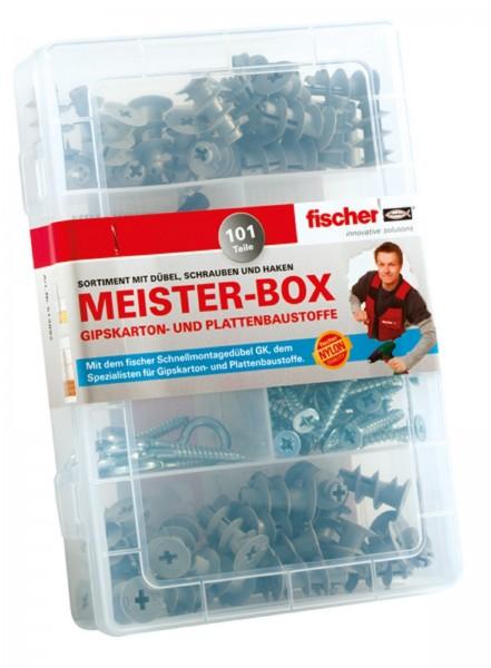Fischer Meister-Box Gipskartondübel GK + Schrauben + Haken 101-tlg.