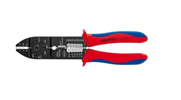 Knipex Crimpzange 215mm Zange Kabelzange Kabelverbinder Verbinder 9721215