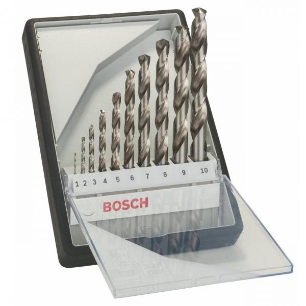Bosch Metallbohrer-Set 19-tlg. Robust Line HSS-G 135° DIN 338 Bohrer 1-10 mm