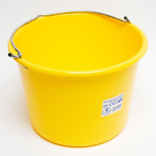 Baueimer 20 Liter kranbar gelb
