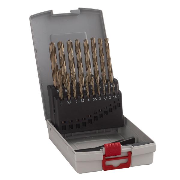 Bosch Metallbohrer-Set 19-tlg. Pro Box HSS-Co 135° DIN 338 Bohrer 1 - 10 mm
