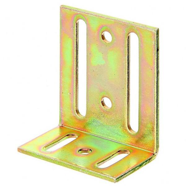 1x Verstellwinkel Langloch Winkelverbinder verz. 40x77x65