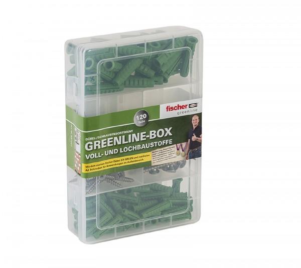 Fischer Meisterbox SX greenline + A2 Schraube 120-tlg.