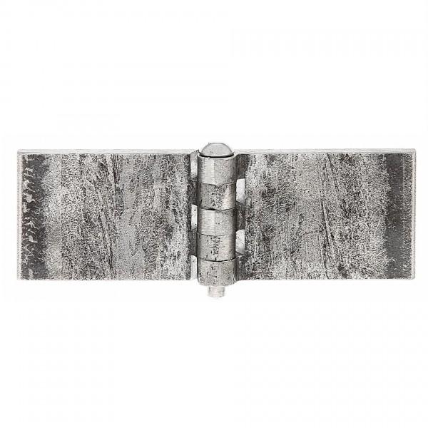 1x Scharnier breit zum Anschweißen Stahl roh 40x120