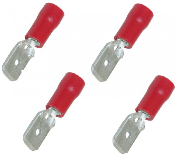 FLACHSTECKZUNGE ROT 6,3X0,8 VT 100