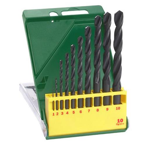 Bosch Metallbohrer-Set 10-tlg. HSS-R DIN 338 Stahlbohrer Bohrer 1 - 10 mm