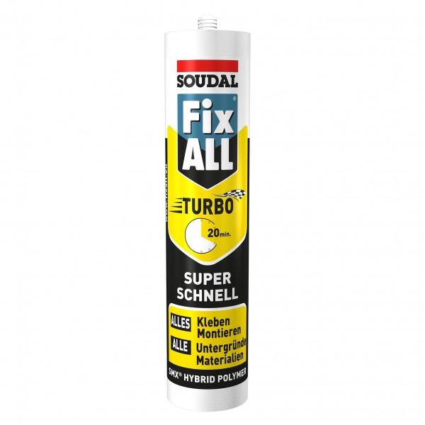 Soudal Fix ALL Turbo Hybrid Polymer Dichtstoff Klebstoff weiß 290ml