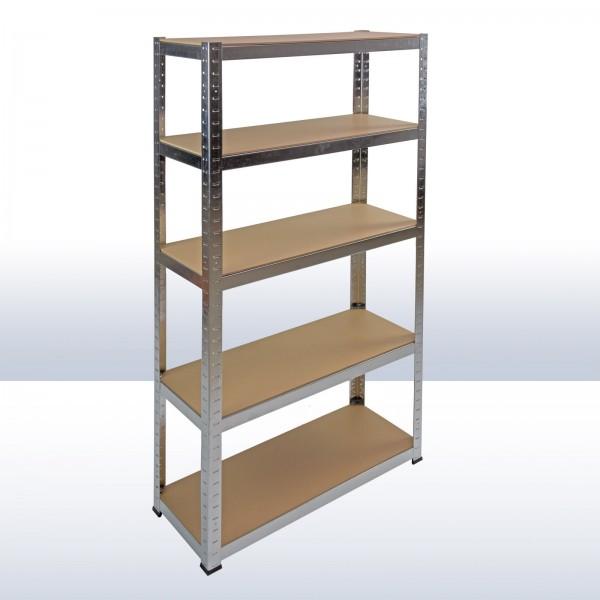 Steckregal mit 5 Holzböden 170x75x30