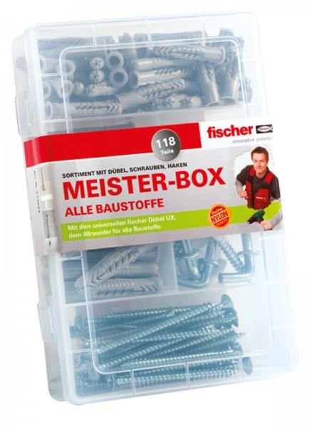 Fischer Meister-Box UX + Schrauben + Haken 118-tlg.