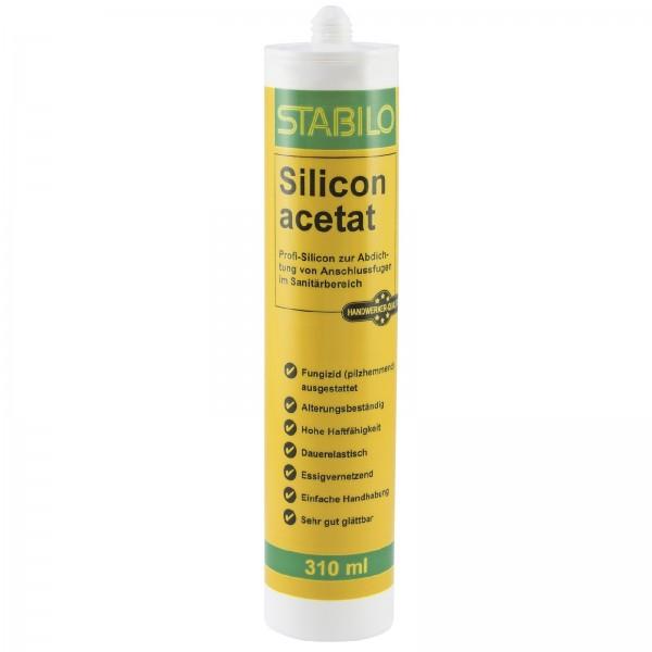 Stabilo Silicon acetat Sanitärsilicon Sanitär Silikon transparent 310 ml