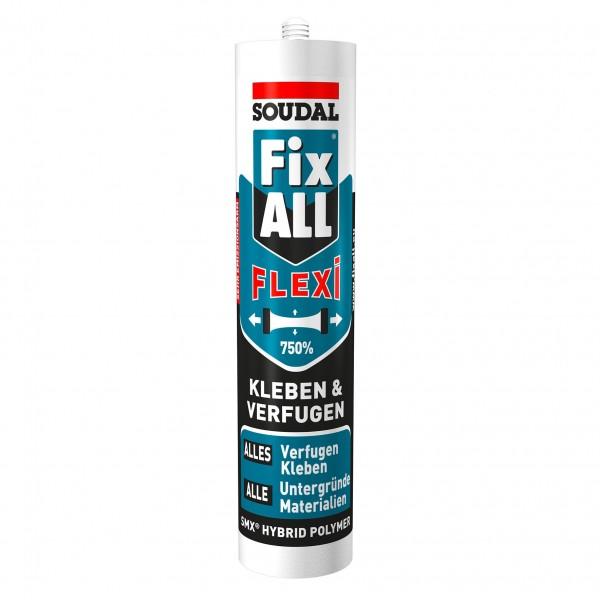 Soudal Fix ALL Classic / Flexi Hybrid Polymer Dichtstoff Klebstoff weiß grau 290ml