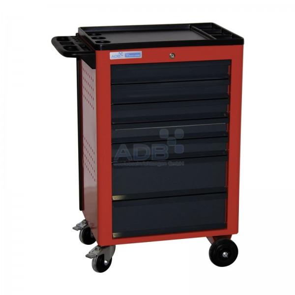 ADB Werkstattwagen Basic mit 7 Schubladen, rot