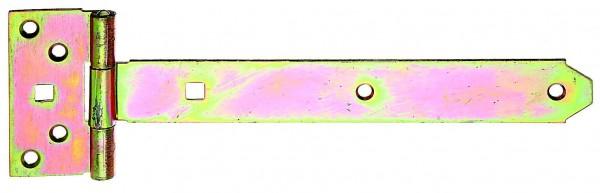1x Fensterladen-Mittelband mit Zierspitze Verbinder gelb verzinkt 200x30