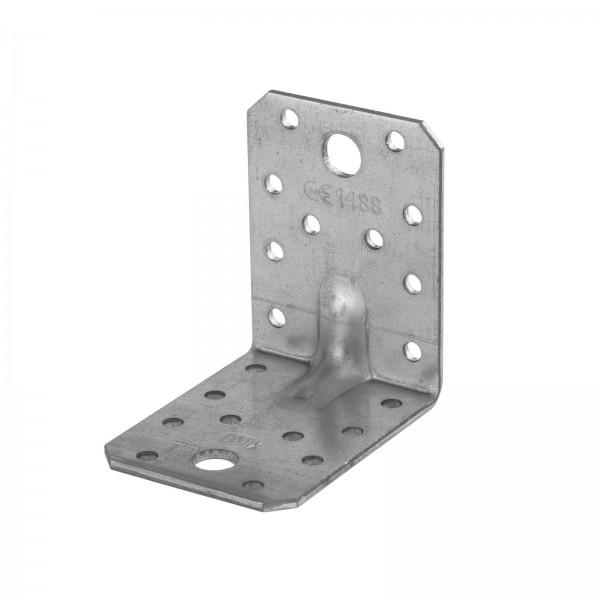 Winkelverbinder mit Sicke Steg Rippe Winkel Bauwinkel Holzverbinder DIN 1052 mit Zulassung CE