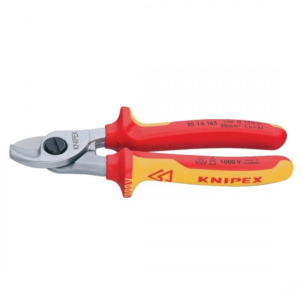 Knipex Kabelschere 165mm Kabel Schere Schneider 1000V VDE geprüft 9516165