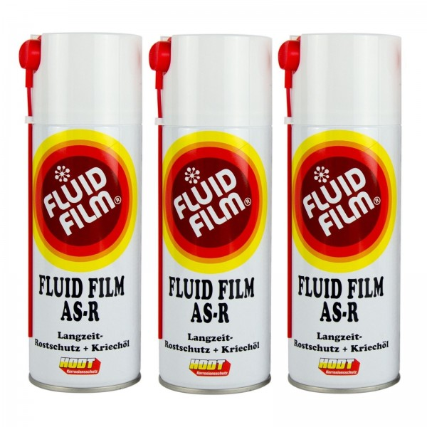 3x Fluid Film AS-R Korrosionsschutz Hohlraumversiegelung Rostschutz 400ml
