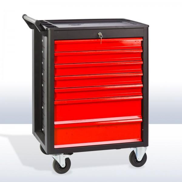 XL Werkstattwagen DW7 Schubladen schwarz / rot