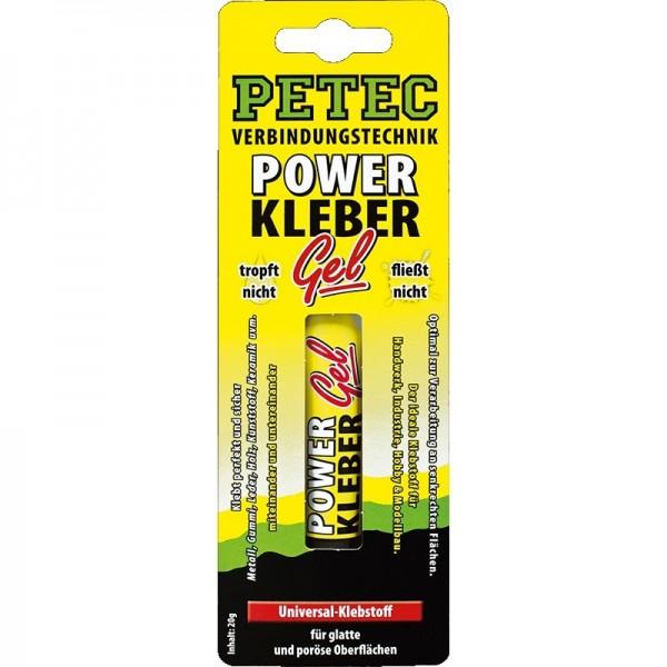 Petec Power Kleber GEL Sekundenkleber Klebstoff 20 g