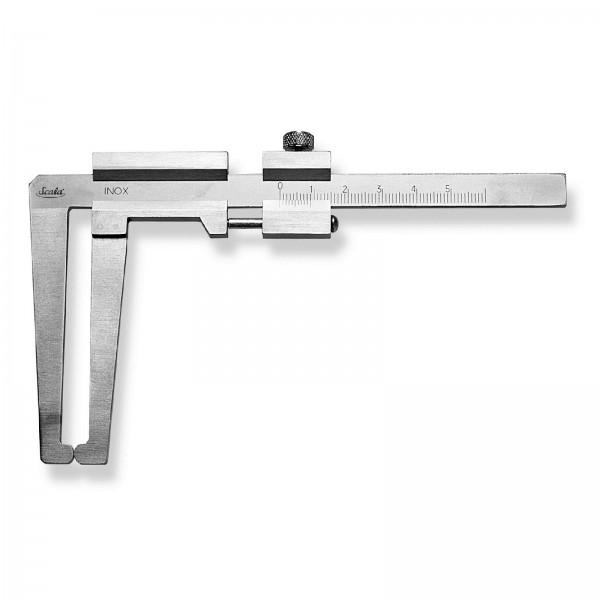 Scala Analoger Bremsscheiben-Messschieber Schieblehre MB 60 mm Schnabel 75 mm