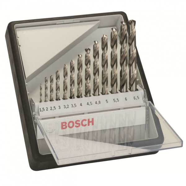 Bosch Metallbohrer-Set 19-tlg. Robust Line HSS-G 135° DIN 338 Bohrer 1,5 - 6,5 mm