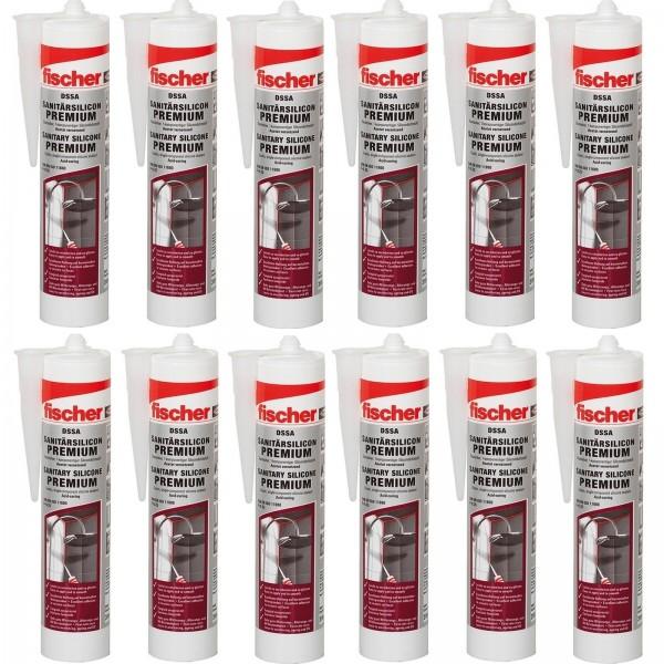 12x Fischer Sanitärsilicon 310 ml DSSA Premium