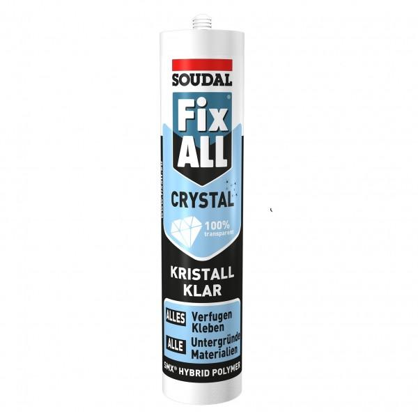 Soudal Fix ALL Crystal Hybrid Polymer Dichtstoff Klebstoff 290ml