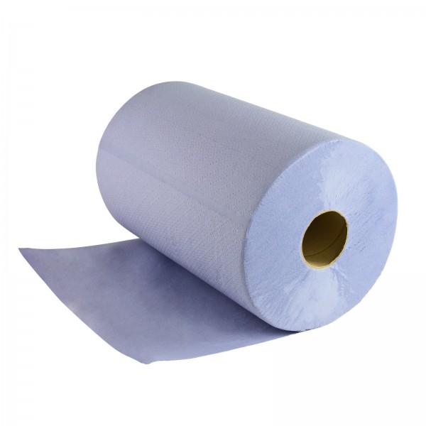 Putztuchrolle Putztuch Papiertuch Rolle blau 3 lagig für Werkstatt 1 Rolle