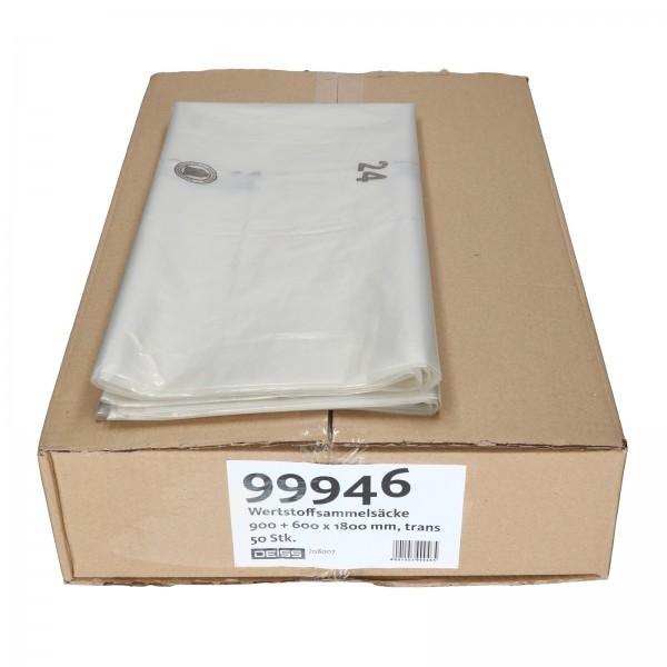 Wertstoffsammelsäcke Werstoffsack große Müllbeutel Müllsäcke 900x600x1800 - 10 Stück