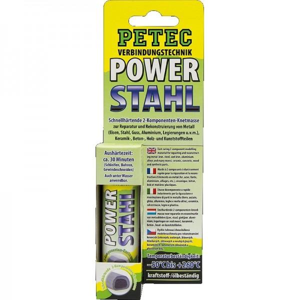 Petec Power Stahl Kleber Klebstoff Stahlkleber 2-Komponenten-Knetmasse 50 g