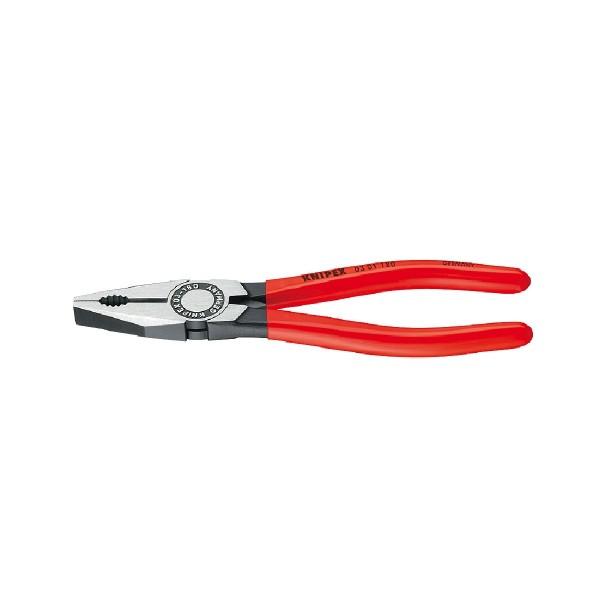 Knipex Kombizange 180 mm Zange poliert mit Kunststoff überzogen 0301180