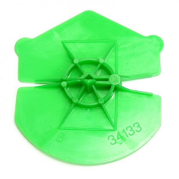 UNI-Clip Klemmplatte Klemmscheibe grün für Luftschichtanker 5 - 6 mm 250 Stück