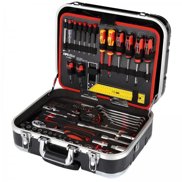 HM Müllner Werkzeugkoffer Werkzeugkasten Werkzeugkiste bestückt 147-tlg. fahrbar