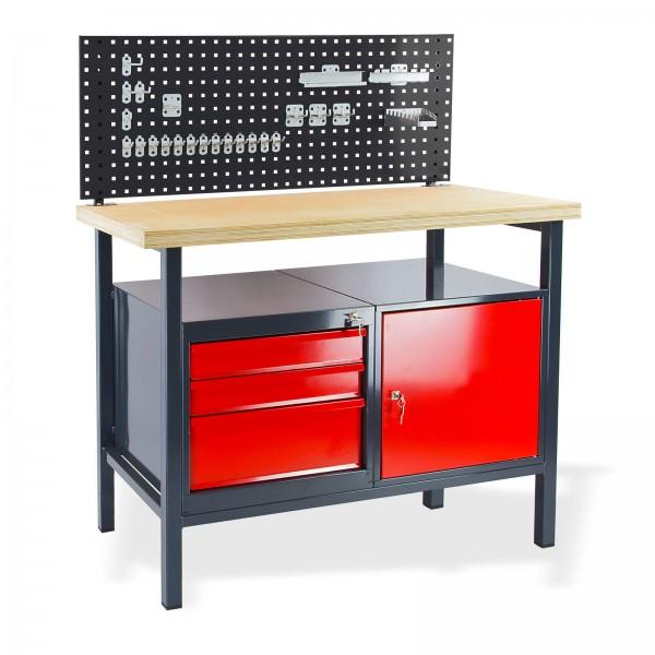 Werkbank Arbeitstisch mit Lochwand