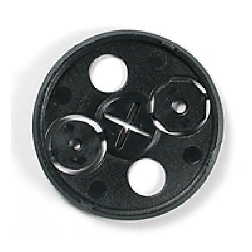 Klemmkrallenplatte mit Kreuzschlitz aus Kunststoff Krallenplatte Ø60