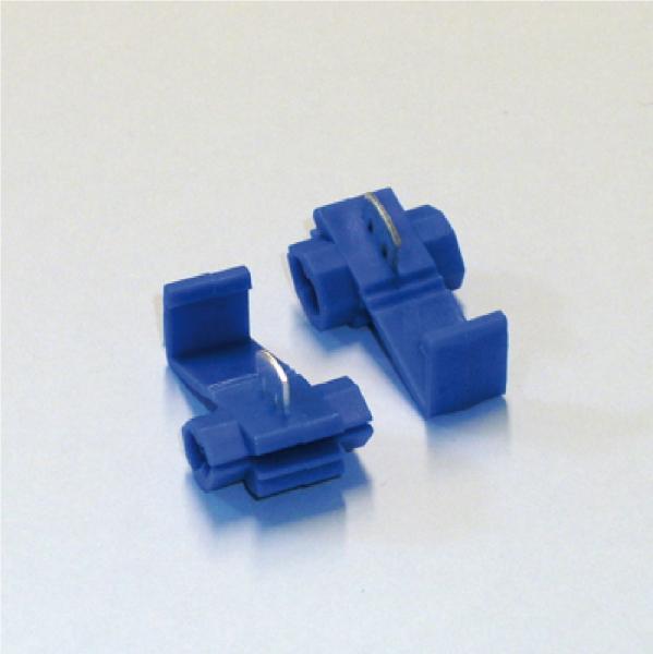 100 Abzweigverbinder blau 1,5-2,5mm², Stromdieb, Klemm- und Schnellverbinder Neu